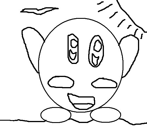 Kirby Buckets Coloring Pages Kirby Coloring Page