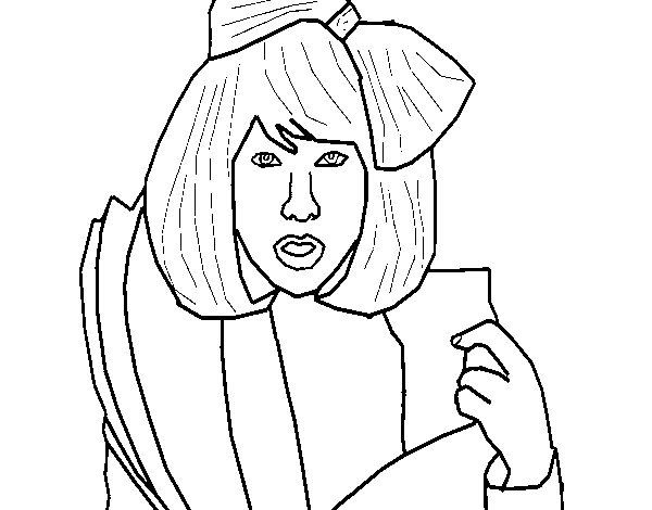 lady gaga coloring page