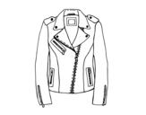 Leather jacket coloring page