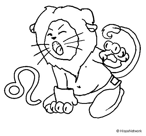 Leo coloring page for Leo coloring pages
