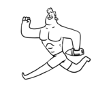Dibujo de Lifeguard running