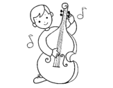 Dibujo de Little boy with Cello