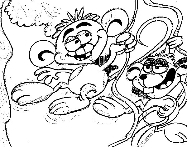 Little Monkeys coloring page