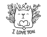 Love message coloring page