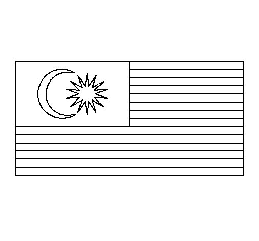 Malaysia coloring page