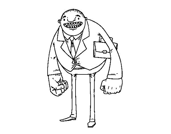 Man with big fists coloring page