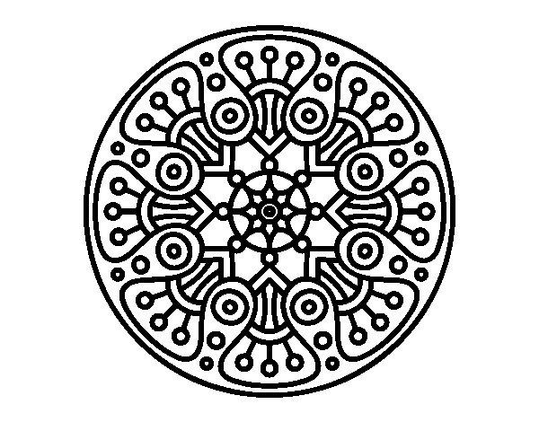mandala circle coloring pages - photo#15
