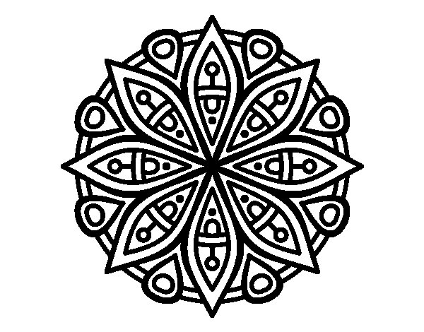 Mandala for the concentration coloring page - Coloringcrew.com: mandalas.coloringcrew.com/mandala-for-the-concentration.html