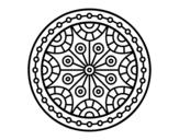 Mandala mental balance coloring page
