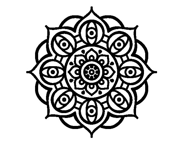 mandala open eyes coloring page - Eye Coloring Page