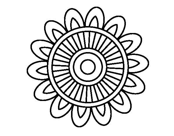 Mandalas Para Colorear De Bts: Mandala Solar Coloring Page