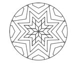 Dibujo de Mandala star mosaic
