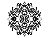 Mandala to relax coloring page