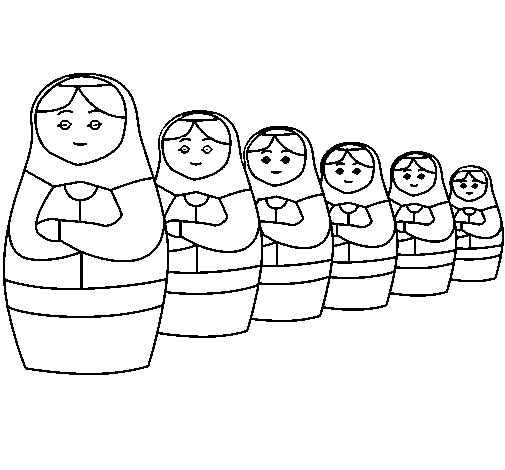 Matryoshka doll coloring page