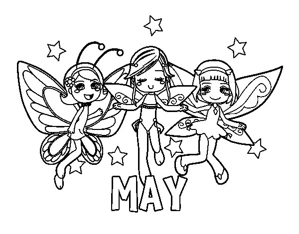 May coloring page Coloringcrewcom