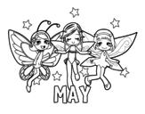 May coloring page