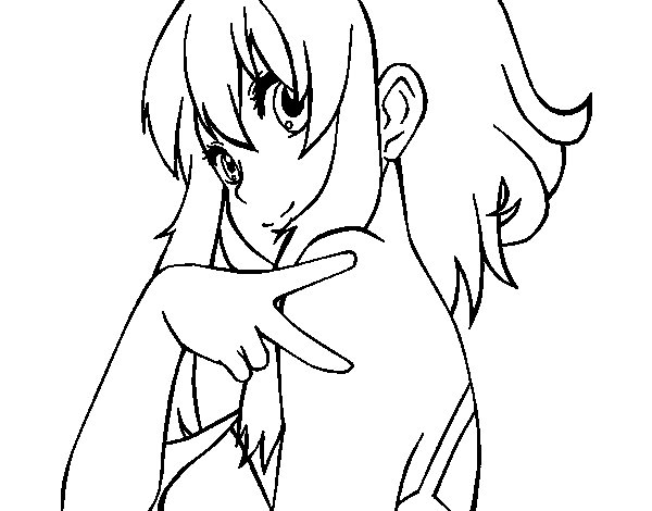 Megpoid Gumi Vocaloid coloring page
