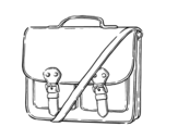 Messenger handbag coloring page