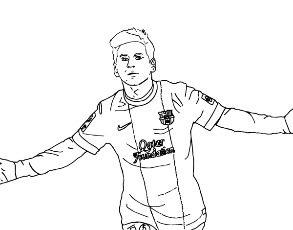 Lionel Messi Coloring Pages Printable Images Kids Aim Coloring