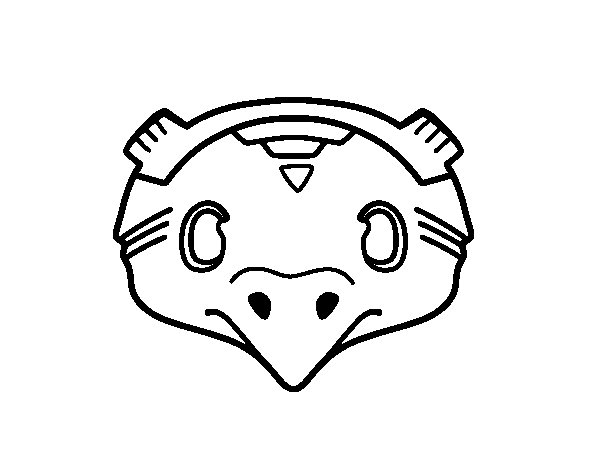 Mexican mask of a bird coloring page