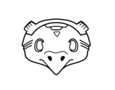 Dibujo de Mexican mask of a bird
