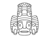 Dibujo de Mexican mask of rituals