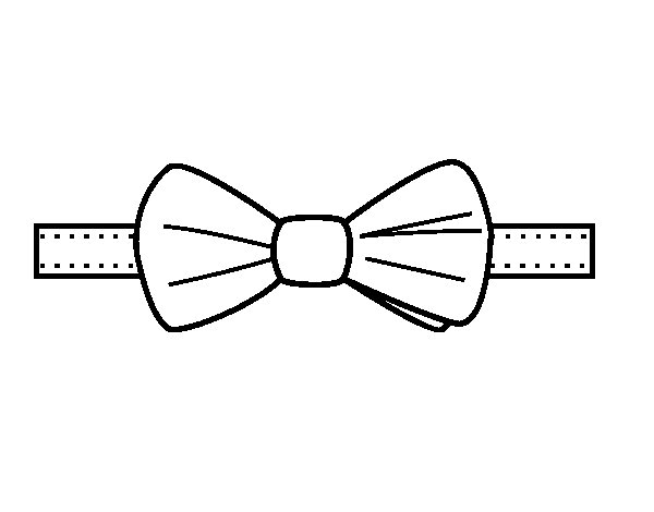 Modern bow tie coloring page