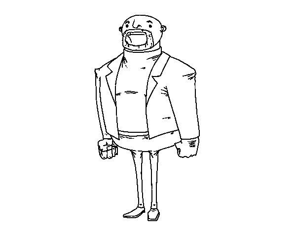 Modern dress man coloring page