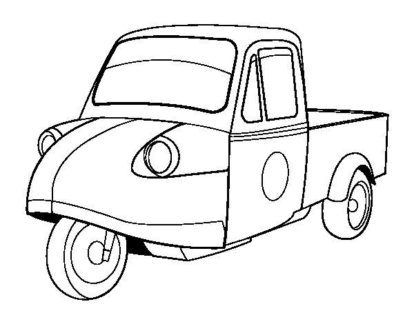 Colouring Picture Van : Motorbike van coloring page coloringcrew