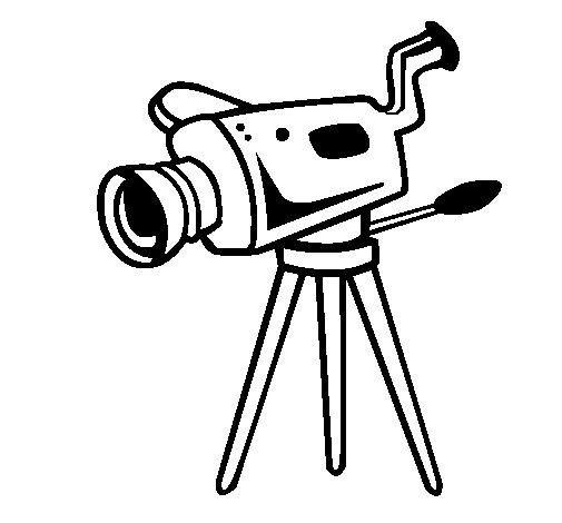 movie camera coloring page coloringcrew com