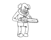 Murderer clown coloring page