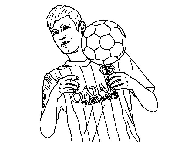 soccer coloring pages neymar barcelona - photo#15