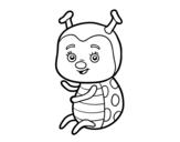 Dibujo de Nice ladybug