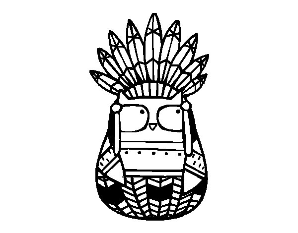 coloring pages indian chief - photo#33