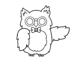 Owl teacher coloring page