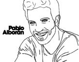Dibujo de Pablo Alborán foreground