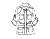 Parka coloring page