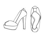 Platform heels coloring page