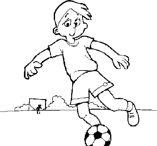 English Football Coloring Pages Playing Football Coloring Page