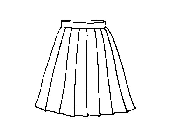 Pics For > Skirt Coloring Page