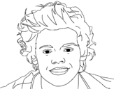 One direction coloring page for Harry styles coloring pages