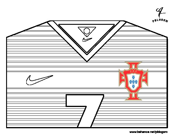 portugal world cup 2014 t shirt coloring page