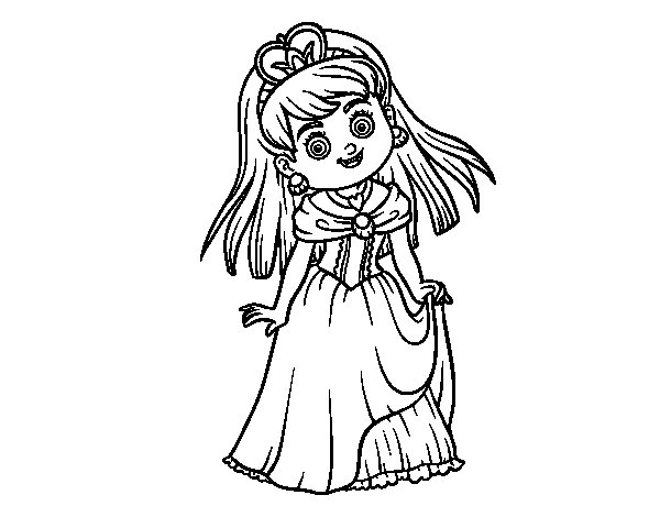 Princess charming coloring page