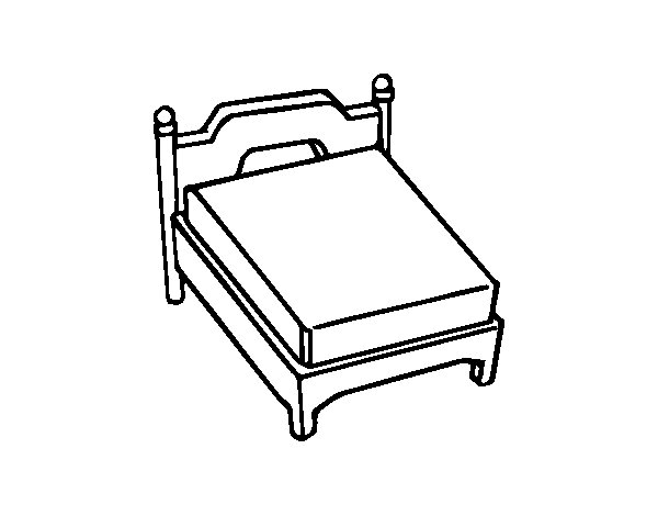 beds coloring pages - photo#16