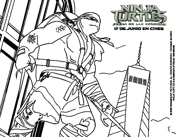 raphael ninja turtles coloring page