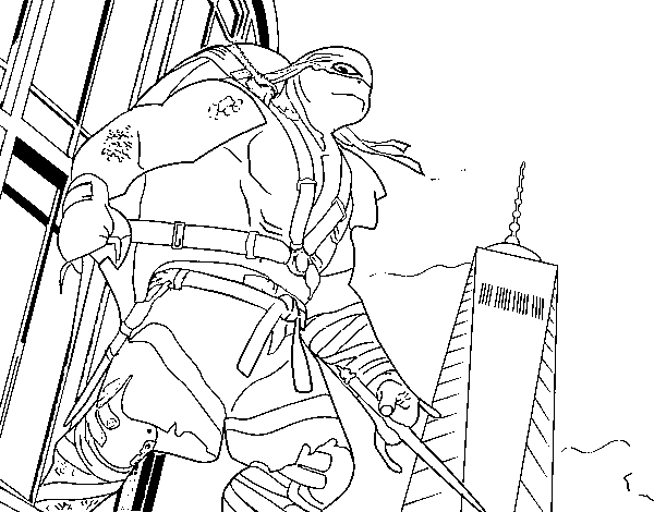 Rafael tmnt book coloring pages for Raphael ninja turtle coloring pages