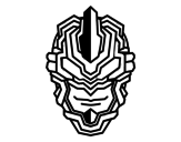 Robot mask coloring page