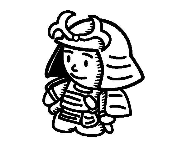 Samurai in armor coloring page  Coloringcrewcom