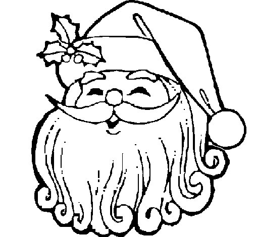 coloring pages santa claus face - photo#20