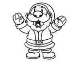Santa Claus laughing coloring page